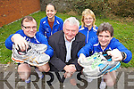 Members of the IT Tralee Born to Run Marathon Club Brian Hayden and Marcus Howlett with Martin Fitzgerald Chairperson of Tralee Harriers (pictured centre) and Vivienne Li and Moira Horgan announcing plans for the Tralee International Marathon taking place March 2013.
