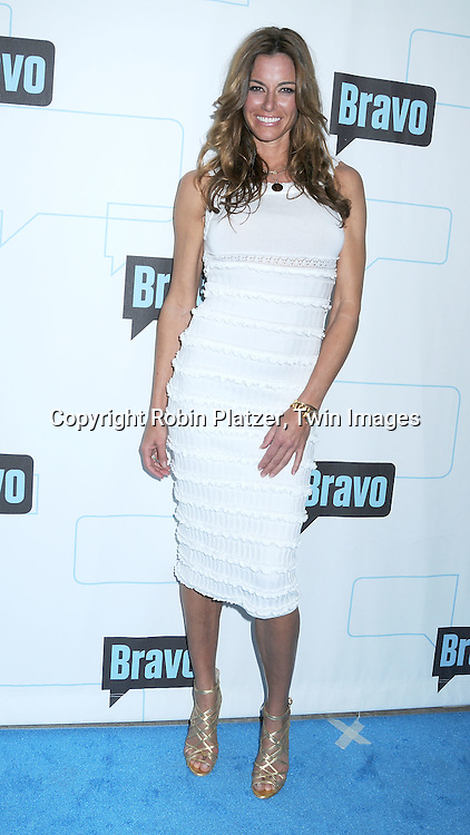 Kelly Bensimon of The Real Housewives of NYC  posing for photographers at The Bravo Upfront Party on March 10, 2010 at Skylight Studios in New York City.