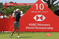Marina Alex (USA) in action on the 10th during Round 3 of the HSBC Womens Champions 2018 at Sentosa Golf Club on the Saturday 3rd March 2018.<br /> Picture:  Thos Caffrey / www.golffile.ie<br /> <br /> All photo usage must carry mandatory copyright credit (&copy; Golffile | Thos Caffrey)