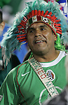 1 March 2006: A Mexican fan with an indian headdress. The National Team of Mexico defeated the National Team of Ghana 1-0 at Pizza Hut Park in Frisco, Texas in an International Friendly soccer match.