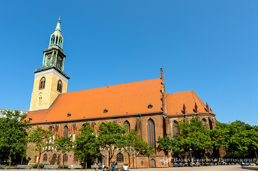 Berlin, Germany. St. Mary's Church or Marienkirche on Alexanderplatz is one of the oldest churches in Berlin.