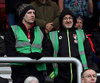 Bournemouth fansBournemouth fans<br /> <br /> Bournemouth 1 - 4 Tottenham Hotspur<br /> <br /> Photographer David Horton/CameraSport<br /> <br /> The Premier League - Bournemouth v Tottenham Hotspur - Sunday 11th March 2018 - Vitality Stadium - Bournemouth<br /> <br /> World Copyright &copy; 2018 CameraSport. All rights reserved. 43 Linden Ave. Countesthorpe. Leicester. England. LE8 5PG - Tel: +44 (0) 116 277 4147 - admin@camerasport.com - www.camerasport.com