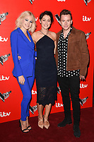 Pixie Lott, Emma Willis and Danny Jones<br /> at the launch of The Voice Kids, Madame Tussauds, London. <br /> <br /> <br /> &copy;Ash Knotek  D3273  06/06/2017