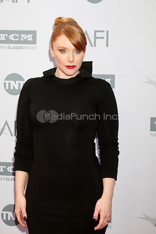 LOS ANGELES, CA - JUNE 9: Bryce Dallas Howard at the American Film Institute 44th Life Achievement Award Gala Tribute to John Williams at the Dolby Theater on June 9, 2016 in Los Angeles, California. Credit: David Edwards/MediaPunch
