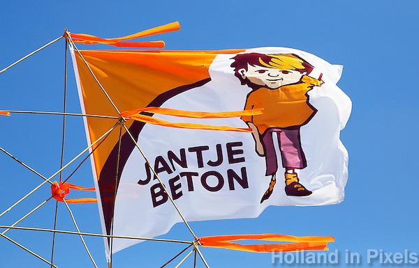 Amsterdam. Vlag van Jantje Beton