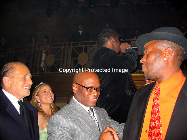 Mariah Carey &amp; Sean P. Diddy Combs, L.A. Reid<br />Sean P. Diddy Combs Celebrates his 35th birthday by giving himself a Royal Birthday Ball<br />Cipriani Wall Street<br />New York, NY, USA<br />Thursday, November 04, 2004<br />Photo By Celebrityvibe.com/Photovibe.com, New York, USA, Phone 212 410 5354, email:sales@celebrityvibe.com
