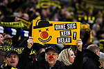 10.02.2018, Signal Iduna Park, Dortmund, GER, 1.FBL, Borussia Dortmund vs Hamburger SV, <br /> <br /> im Bild | picture shows:<br /> Ein Fan h&auml;lt ein Schild mit der Aufschrift &quot;Ohne Sieg kein Helau&quot; in die H&ouml;he, <br /> <br /> <br /> Foto &copy; nordphoto / Rauch