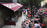 Borough Market open to the public again following 3rd June terror attack. Eight people were killed and at least 48 injured in terror attacks on London, London June 14th 2017<br /> CAP/BK/PP<br /> Bob Kent/PP/Capital Pictures /MediaPunch ***NORTH AND SOUTH AMERICAS ONLY***