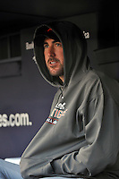 Apr 02, 2011; Bronx, NY, USA; Detroit Tigers pitcher Justin Verlander (35) during game against the New York Yankees at Yankee Stadium. Yankees defeated the Tigers 10-6. Mandatory Credit: Tomasso De Rosa