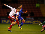 Matt Done of Sheffield Utd turns Brian Wilson of Oldham Athletic to score the winning goal - FA Cup Second round - Sheffield Utd vs Oldham Athletic - Bramall Lane Stadium - Sheffield - England - 5th December 2015 - Picture Simon Bellis/Sportimage