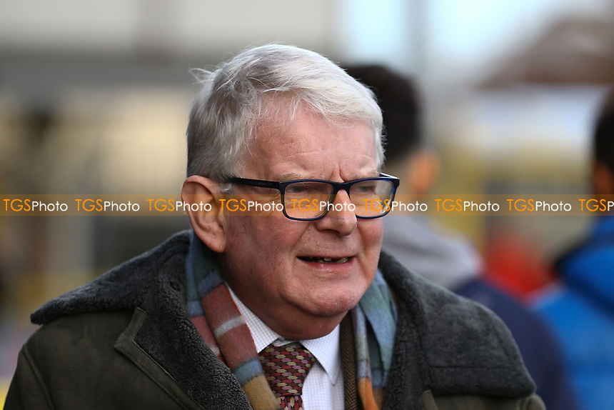 John Motson during AFC Wimbledon vs Burton Albion, Sky Bet EFL League 1 Football at the Cherry Red Records Stadium on 9th February 2019