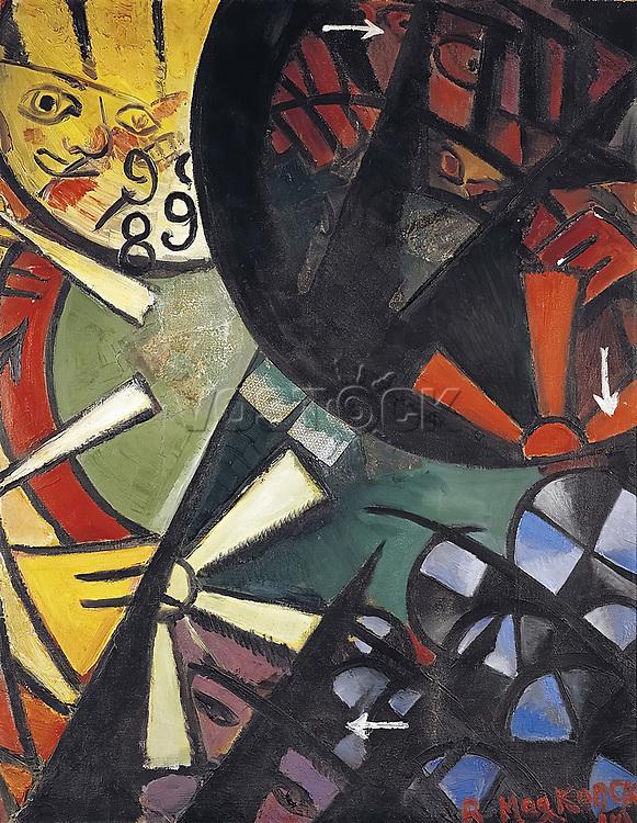 Vladimir Vladimirovich Mayakovsky (1893-1930), The Roulette, 1915