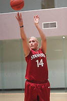 STANFORD, CA - JUNE 23:  Joslyn Tinkle of the Stanford Cardinal during a photo shoot at the Arrillaga Family Sports Center in Stanford, California.