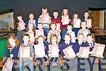 POSTER COMPETITION: The students who took part in under 7's category of the Clanmaurice Credit Union Poster competition received their prizes at Causeway Comprehensive School on Thursday.