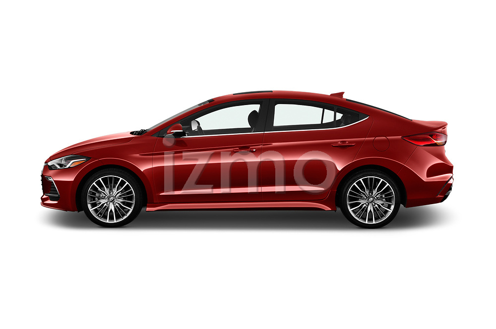 Car Driver side profile view of a 2017 Hyundai Elantra Sport 4 Door Sedan Side View