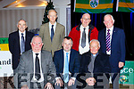 Former Chairmen Jerome Conway, Tom Keane Chairman and Fr James  . Back row: Liam Sayers, John Fitzpatrick, John Foley and Johnny Brosnan at the Kerry Coiste na nÓg 50th anniversary celebrations in the Gleneagle Hotel on Saturday night