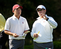 Stanford, Ca - Thursday, May 18, 2012: Stanford Golf plays in the NCAA Regionals held at the Stanford Golf Course. Andrew Yun, Knowles Family Director of Men's Golf Conrad Ray