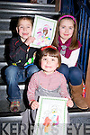 ..DRAWING: Ruairi Halloran, Rachel O'Connor and Leila Halloran (Tralee) show off their drawings at the Kerry County Council Classic Kids Christmas Party on Sunday at the Kerry Museum..............