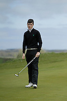 Greg Mungoven (Headfort) during round 1 of The West of Ireland Amateur Open in Co. Sligo Golf Club on Friday 18th April 2014.<br /> Picture:  Thos Caffrey / www.golffile.ie