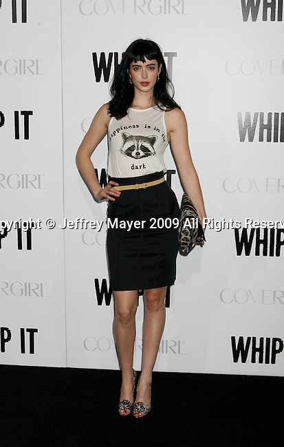 """HOLLYWOOD, CA. - September 29: Krysten Ritter arrives at the Los Angeles premiere of """"Whip It"""" at the Grauman's Chinese Theatre on September 29, 2009 in Hollywood, California."""