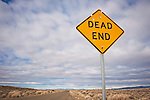 Dead End road sign, Carson Sink along U.S. 95 north of Fallon, Nev...Vasna Wilson