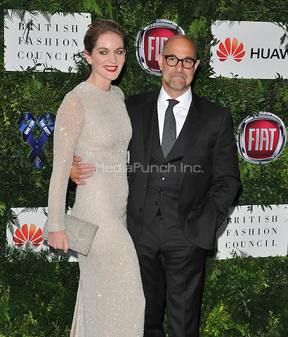 Felicity Blunt &amp; Stanley Tucci at the One For The Boys Charity Ball in aid of the One For The Boys charity, Victoria &amp; Albert Museum, Cromwell Road, London, England, UK, on Sunday 12 June 2016.<br /> CAP/CAN<br /> &copy;CAN/Capital Pictures /MediaPunch ***NORTH AND SOUTH AMERICAS ONLY***