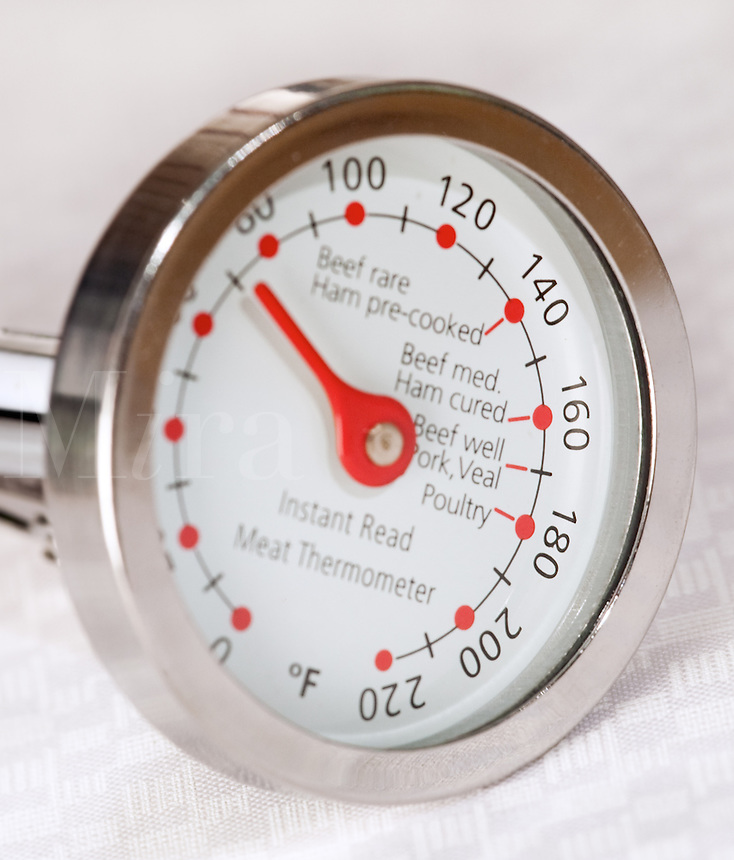 Meat Thermometer on white backdrop