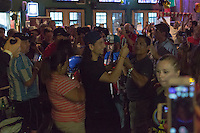 Houston, TX - June 20, 2016: The U.S. Men's National team enjoy an evening with the American Outlaws of Houston gathering at Lucky's Pub.