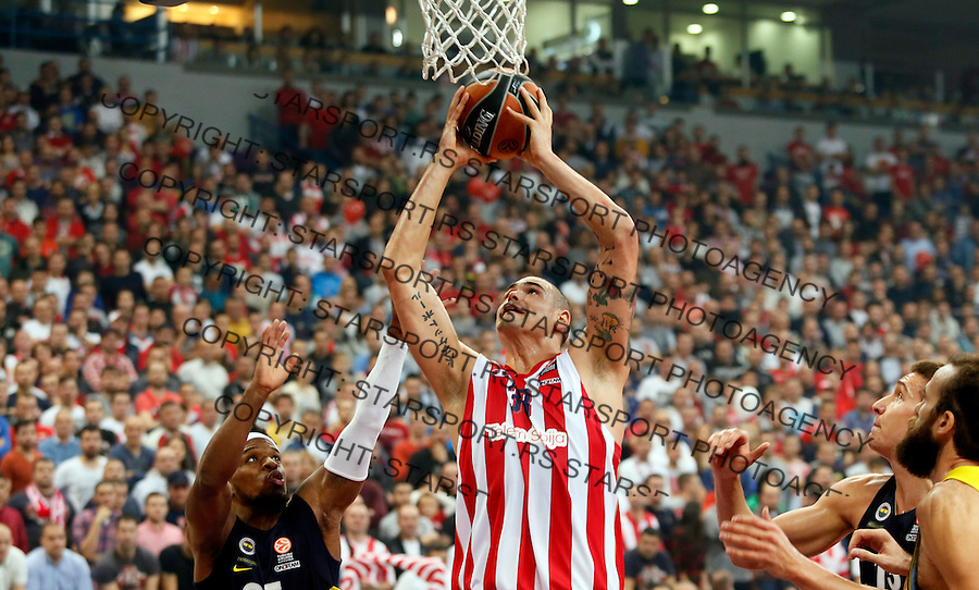 Maik Zirbes Euroleague basketball game between Crvena Zvezda and Fenerbahce on Novembar 6. 2015 Beograd, Srbija, 6.11.2015.  (credit image & photo: Pedja Milosavljevic / STARSPORT)