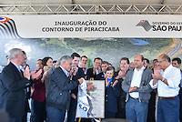 """PIRACICABA,SP, 27.06.2016 - ALCKMIN - O Governador Geraldo Alckmin, PSDB, inaugurou o contorno SPI 162/308 com o nome de Rodovia """"Ernesto Paterniani"""" ligando duas importantes rodovias a Rodovia do Açúcar e Piracicaba-Rio Claro, nesta segunda-feira, 27, em Piracicaba, interior. (Foto: Mauricio Bento/Brazil Photo Press)"""