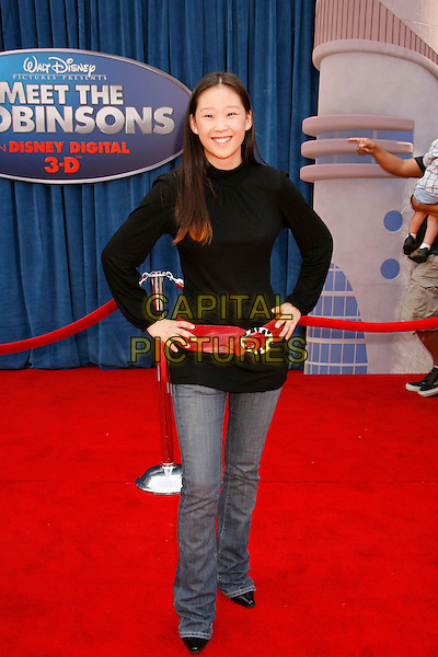 "TESS LUDWICK.Attending the ""Meet The Robinsons"" Los Angeles Premiere held at the El Capitan Theatre, Hollywood, California, USA, 25 March 2007..full length black top red belt.CAP/ADM/RE.©Russ Elliot/AdMedia/Capital Pictures."
