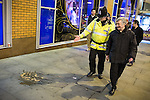 © Joel Goodman - 07973 332324 . FILE PICTURE DATED 05/05/2013 of Manchester's Police and Crime Commissioner , Tony Lloyd (right) on overnight patrol with PC Gary Cave in Central Manchester (left) as the British Home Secretary , Theresa May , takes questions at the annual Police Federation conference on licensing and policing the night time economy , today (Wednesday 15th May 2013) . Photo credit : Joel Goodman