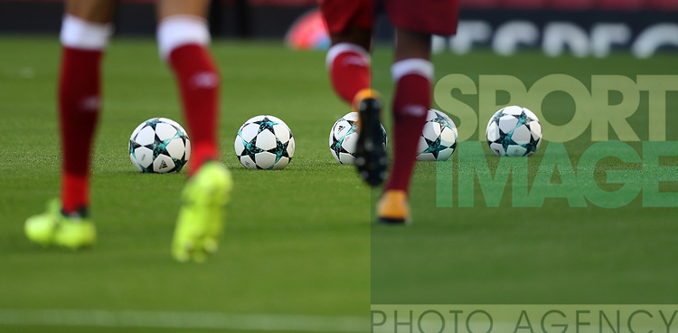 Champions League match balls  during the Champions League playoff round at the Anfield Stadium, Liverpool. Picture date 23rd August 2017. Picture credit should read: Lynne Cameron/Sportimage