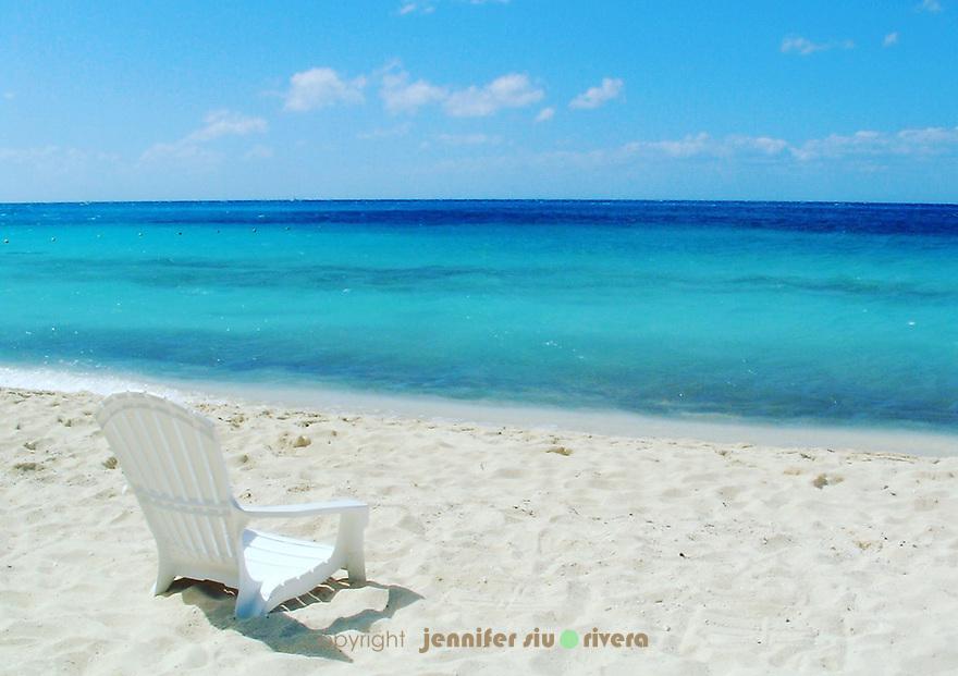 Caribbean beach. Cozumel, Mexico