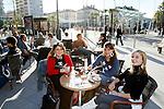 20080110 - France - Aquitaine - Pau<br /> CAFES ET PLACE CLEMENCEAU AU CENTRE VILLE PIETONNIER DE PAU.<br /> Ref : PAU_008.jpg - © Philippe Noisette.
