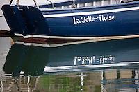 Europe/France/Bretagne/56/Morbihan/ Belle-Ile-en-Mer/Le Palais: Vieux gréement sur le port: La Belle -Iloise, barque vénète