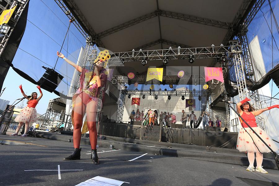 SÃO PAULO,SP, 30.07.2016 - SÃO-JOÃO - Bloco Bangalafumenga se apresenta durante o São João Skol Saider On no Memorial da América Latina, região oeste de São Paulo (SP) neste sábado, 30. (Foto: Yuri Alexandre/Brazil Photo Press)
