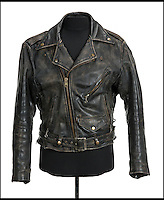 BNPs.co.uk (01202 558833)<br /> Pic: JuliensAuctions/BNPS<br /> <br /> Patrick Swayze's leather jacket from Dirty Dancing is estimated at &pound;4,790.<br /> <br /> The iconic leather jacket worn by Patrick Swayze as he delivers the famous line &quot;Nobody puts Baby in a corner&quot; is up for grabs.<br /> <br /> The notable piece of clothing from the 1987 classic Dirty Dancing has been given a conservative estimate of less than &pound;5,000 but auctioneer Darren Julien says the &quot;Holy Grail&quot; of Swayze memorabilia could fetch more than six times that.<br /> <br /> The surfboard from Point Break (1991) and Swayze's shirt from Ghost (1990) are also among the key lots being sold by his wife of 34 years, Lisa Niemi.<br /> <br /> The Hollywood items being sold by Julien's in Los Angeles, following the star's death from pancreatic cancer in 2009, offer film fans the chance to own a piece of pop culture history.<br /> <br /> The memorabilia will be sold in Los Angeles on April 28 and 29.