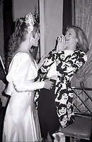 ***FILE PHOTO*** Margot Kidder has passed away at 69****<br /> Margot Kidder and Kathleen Turner attending 'Common Performance Benefit' on April 28, 1986 at the St. Regis Hotel in New York City. <br /> CAP/MPI/WAL<br /> &copy;WAL/MPI/Capital Pictures