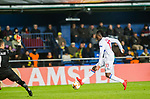 Bertrand Traore of Olympique Lyon shoots to goal during the UEFA Europa League 2017-18 Round of 32 (2nd leg) match between Villarreal CF and Olympique Lyon at Estadio de la Ceramica on February 22 2018 in Villarreal, Spain. Photo by Maria Jose Segovia Carmona / Power Sport Images