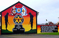 Loyalist mural situated on the Lower Shankhill Estate, the scene of many conflicts over the years, Belfast, Northern Ireland