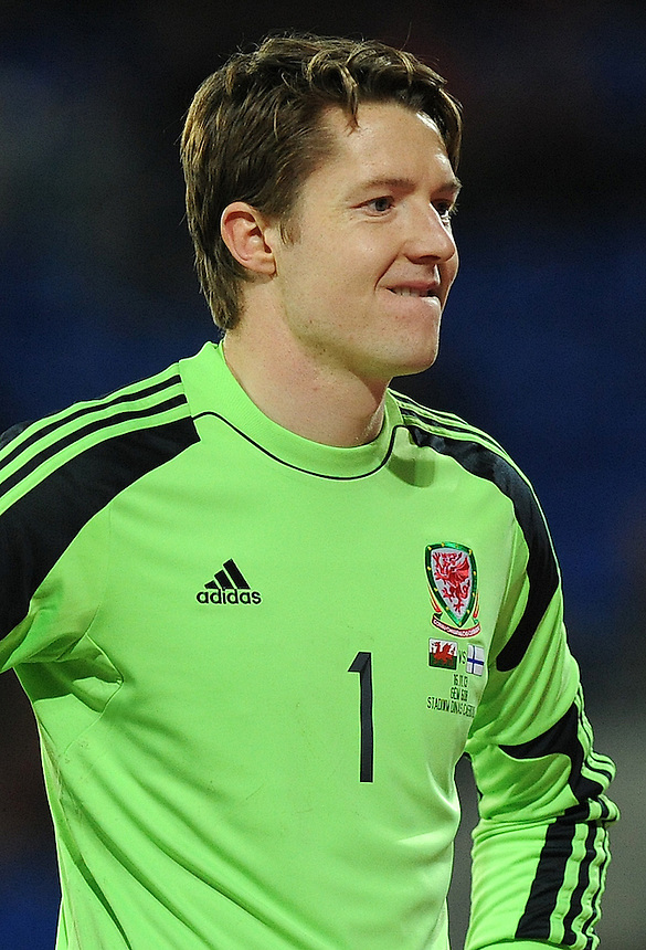 Wales Wayne Hennessey in action during todays match  <br /> <br /> Photo by Ashley Crowden/CameraSport<br /> <br /> Football - International Friendly - Wales v Finland - Saturday 16th November 2013 - Cardiff City Stadium - Cardiff<br /> <br /> &copy; CameraSport - 43 Linden Ave. Countesthorpe. Leicester. England. LE8 5PG - Tel: +44 (0) 116 277 4147 - admin@camerasport.com - www.camerasport.com