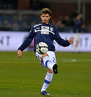 Fabio Borini (ITA), before the friendly match Italy against USA at the Stadium Luigi Ferraris at Genova Italy on february the 29th, 2012.