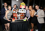Maggie Lakis, Jason Jacoby, Rob mcClure, Carmen Ruby Floyd and Matt Dengler attends the 'Avenue Q' - 15th Anniversary Performance Celebration at Novotel on July 31, 2018 in New York City.