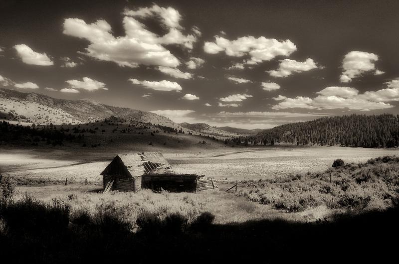 Abandoned cabin near Paisley, Oregon.