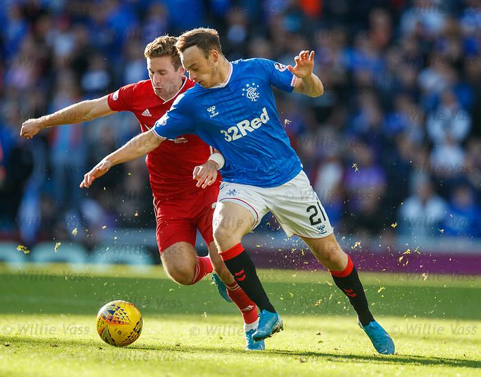 28.09.2018 Rangers v Aberdeen: Jon Gallagher and Brandon Barker