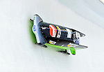 18 December 2010: Cathleen Martini pilots her 2-man bobsled for Germany, taking the silver at the Viessmann FIBT World Cup Bobsled Championships on Mount Van Hoevenberg in Lake Placid, New York, USA. Mandatory Credit: Ed Wolfstein Photo