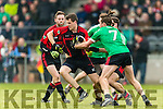 David Hallissey Kenmare in action against Diarmuid Sexton Adare at Mallow on Sunday