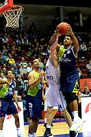 GRONINGEN - Basketbal, Donar - ZZ Leiden, Supersup, seizoen 2018-2019, 06-10-2018,  Leiden speler Maurice Watson Jr in de rebound de sterkste