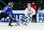 Uppsala 2014-12-10 Bandy Elitserien IK Sirius - Bolln&auml;s GIF :  <br /> Bolln&auml;s Marcus St&aring;hl i kamp om bollen med Sirius Ilja Grachev under matchen mellan IK Sirius och Bolln&auml;s GIF <br /> (Foto: Kenta J&ouml;nsson) Nyckelord:  Bandy Elitserien Uppsala Studenternas IP IK Sirius IKS Bolln&auml;s GIF BGIF Giffarna
